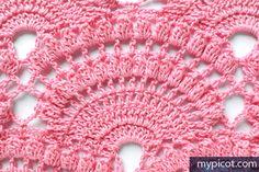 Free Crochet Stitch Picot Fancy Arched Shell Stitch Tutorial http://www.mypicot.com/crochet_patterns_photo_17.html