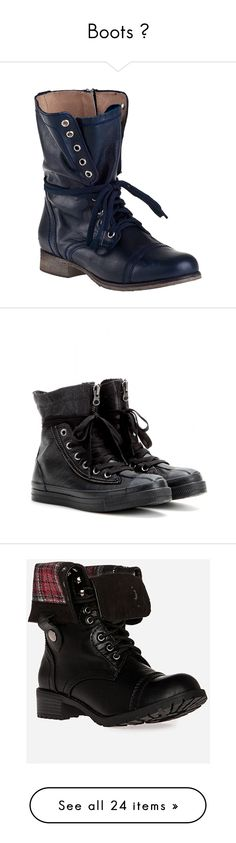 """Boots ♥"" by ana-malik-edwards ❤ liked on Polyvore featuring shoes, boots, ankle booties, combat boots, sapatos, ankle boots, blue leather, leather combat boots, leather lace up boots and lace up ankle boots"