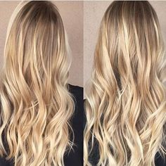 Butter blonde lights. Color by @shelbywhitehair  #hair #hairenvy #hairstyles…