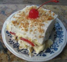 Banana Split Dessert click here --> https://www.facebook.com/photo.php?fbid=632300000188086&set=a.101587679925990.2810.100002242745650&type=1&theater