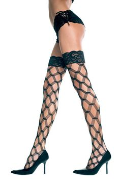 Plus Size Multi-Fishnet Thigh Hi [45437Q] - $10.49 : Mystic Crypt, the most unique, hard to find items at ghoulishly great prices!