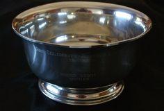 Hanle & Debler Distinctive American Pewter Bowl- Pro-Celebrity Amateur Event 60s #HanleDebler
