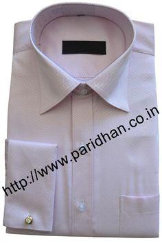 Premium pink shirt made in cotton fabric.