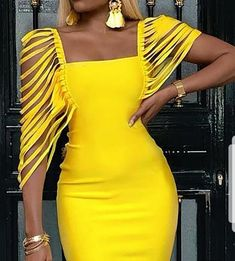 Square Neck Tassel Embellished Bodycon Dress We Miss Moda is a leading Women's Clothing Store. Offering the newest Fashion and Trending Styles. African Wear, African Attire, African Dress, African Party Dresses, Elegant Dresses, Sexy Dresses, Beautiful Dresses, Casual Dresses, Short Dresses
