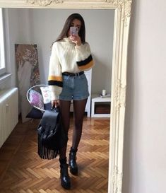 Flawless Summer Outfits Ideas For Slim Women That Looks Cool - Oscilling Look Fashion, 90s Fashion, Korean Fashion, Fashion Outfits, Womens Fashion, Fashion Trends, Fashion Mode, Fall Fashion, Flannel Fashion