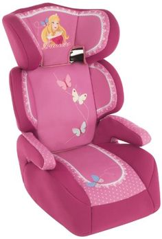 Piku Princesas - Silla de coche, grupos 2/3 (15-36 kg, 3-12 años), color rosa