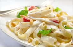 Philly Basil Tagliatelle This recipe goes perfectly on its own but is also a great dish to serve with barbequed chicken or grilled white fish.