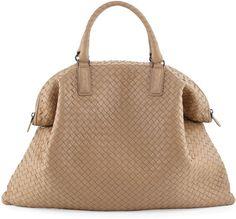 BOTTEGA VENETA Convertible Veneta Tote Bag Khaki