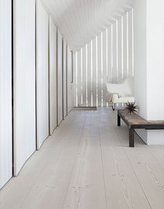 Beautiful Sustainable Wood Flooring from Dinesen -, Unique Flooring, Wide Plank Flooring, Timber Flooring, White Wood Floors, Real Wood Floors, Hardwood Floors, Modern Floor Tiles, Interior Architecture, Beach Cottages