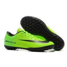 New Nike Mercurial Vapor XI TF Football Boots Green Black b1d18a7d1bdf