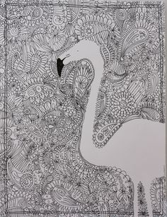 negative space. surround with pattern or zentangle.
