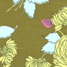 Amy Butler - Belle - Chrysanthemum in Olive