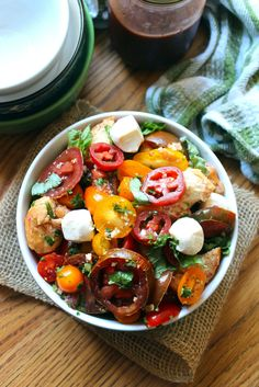 Panzanella With Mozzarella and Herbs