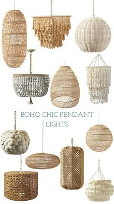 They are made with natural fibers and materials like beadwork, wicker, and rattan. How have they made them look so elegant? Each one of these pendant lights is gorgeous and unique with intricate details. Bohemian Furniture, Rattan Furniture, Luxury Furniture, Bedroom Furniture, Lampe Crochet, Simple Bedroom Decor, Bedroom Modern, Natural Bedroom, White Bedroom