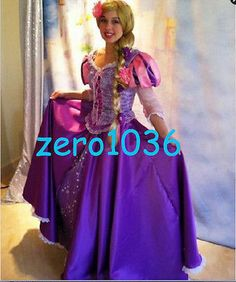 Princess Rapunzel Dress Tangled Fairytale Cosplay Adult Costume Custom Made