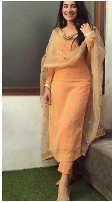 indian designer wear Details about silk kameez punjabi pant salwar party wear indian pakistani stitched suit M L XL Designer Salwar Kameez, Designer Kurtis, Indian Designer Suits, Indian Designer Clothes, Designer Dresses, Party Wear Indian Dresses, Salwar Suits Party Wear, Indian Fashion Dresses, Dress Indian Style