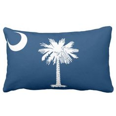 State Flag Of #SouthCarolina Pillows