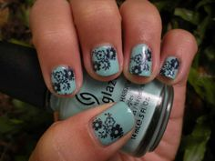Cute Short Nail Designs | Cute Nail Designs for Short Nails With Flowers Motif