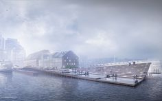 Wharf Design: Foggy Morning Perspective