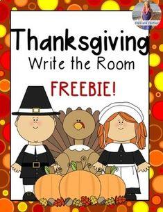 Thanksgiving Write the Room *FREEBIE* Kindergarten Freebies, Kindergarten Writing, Kindergarten Activities, Preschool Food, Literacy, Thanksgiving Writing, Thanksgiving Activities, Kindergarten Thanksgiving, Math Writing