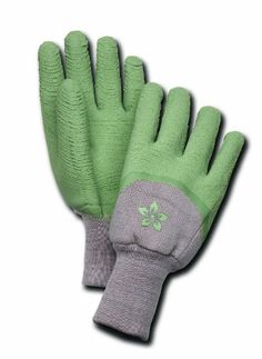 Magid Terra Collection Thorn Gardening Gloves - Womens Small: Textured latex coating protects hands from thorns and sharp objects; cotton knit shell keeps hands cool and comfortable. Extra long knit wrist keeps dirt out.