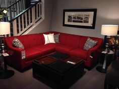 Make a statement with this RED sectional!