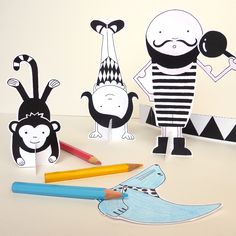 Lovely Pigeon paper Circus Play Kit
