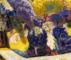 Pierre Bonnard (French, 1867-1947), Jardin vu de la terrasse, or Jardin méridional au Cannet, 1924. Oil on canvas, 56.5 cm x 62 cm. Private collection.