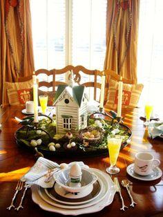 Original Easter Bird Tablescape Designed by Michael West -->http://hg.tv/vhz7