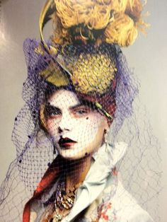 ⍙ Pour la Tête ⍙  hats, couture headpieces and head art -  Christian Dior - John Galliano
