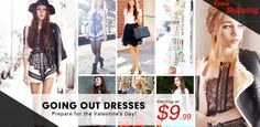 Preparing for the Valentine's Day! Amazing dresses! Starting at $9.99! Free shipping worldwide! Don't miss out!