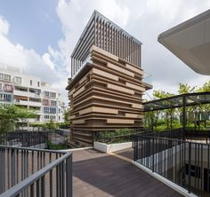 Singapore - The Rainforest - It seeks to evoke the surrounding landscape for residents.