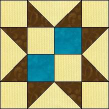 Quilt-Pro - Block of the Day-Sawtooth Star The Block of the Day is available to all quilters, regardless of whether you own our software programs.