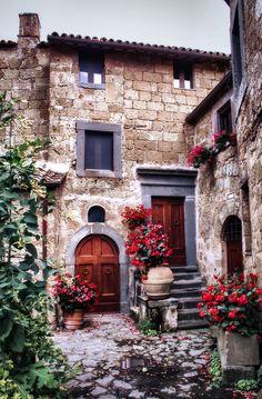 Photograph Civita street and fl by Petr Khoroshikh on 500px. Lazio
