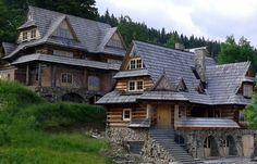 Traditional houses in the Tatra Mountains, Zakopane, Poland