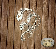 """Laser Cut Chipboard """"The pride of the peacock [1]"""" by SiberianDIYcraftsArt on Etsy"""