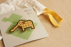 Elephant Pin,  Fashioned after Singapore's Iconic old school mosaic playgrounds. (circa 1970/1980).