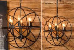 for living room Sphere Chandelier Orb Chandelier, Vintage Chandelier, Farmhouse Chandelier, Dining Room Lighting, Home Lighting, Entry Lighting, Wrought Iron Chandeliers, Farmhouse Decor, Antique Farmhouse
