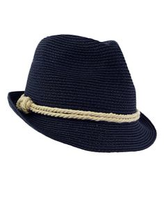 Navy Sailor Knot Fedora//