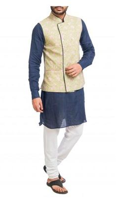 Stay classy with this navy blue kurta and matching churidar with a green printed double breasted jacket. Nehru Jacket For Men, Nehru Jackets, Wedding Store, Double Breasted Jacket, Green Jacket, Shop Now, Navy Blue, Menswear, Classy