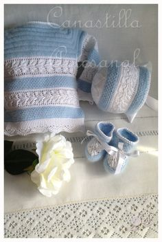 1000 images about layette pour le bb on pinterest - Canastilla artesanal bebe ...