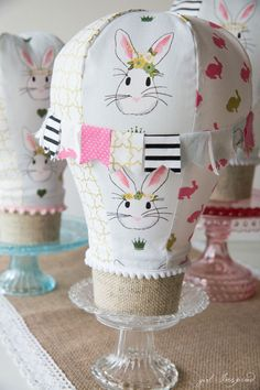 Tabletop Hot Air Balloon Sewing Pattern - darling for party or room decor - these are a quick sew!