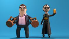 More Awesome Vinyl Toy Designs By A Large Evil Corporation: The World's End - Andy & Gary