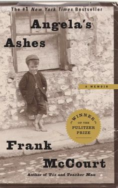 Angela's Ashes by Frank McCourt. Just finished this memoir. So amazingly good!! I loved the Irish accent in which he wrote. Do you ever kind of begin to narrate your own life in a similar fashion to the way the book you just finished reading was written? ... I do.