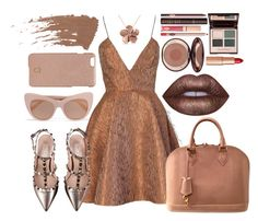 """Beige Gal."" by grandiocissist on Polyvore featuring STELLA McCARTNEY, Joana Almagro, Louis Vuitton, Tory Burch, Valentino, Allurez, Charlotte Tilbury and Lime Crime"