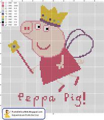 Resultado de imagen para bordados en punto cruz de peppa pig