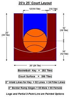 Junior 20x25 Basketball Court Basketball Court Backyard Backyard Basketball Basketball Court Size