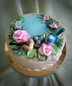 Cake Icing, Buttercream Cake, Eat Cake, Pretty Cakes, Beautiful Cakes, Amazing Cakes, Bolo Floral, Floral Cake, Cake Decorating Techniques
