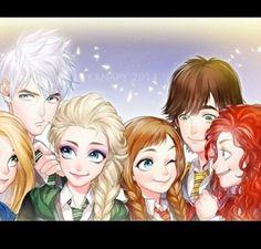 Disney characters in hogwarts *-*
