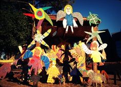 The Cameron Art Museum's third Critter Creche with Clyde Jones' animal sculptures ties in sacred and the whimsical Christmas images.